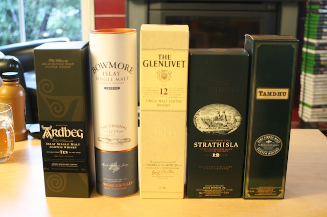 The whiskies